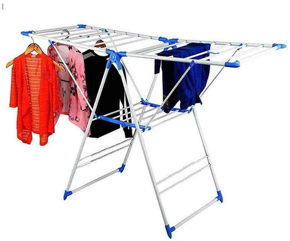 GTC CLOTH DRYING STAND INDOOR AND OUTDOOR STAND  BLUE